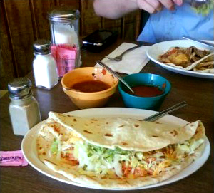 That is a super taco!