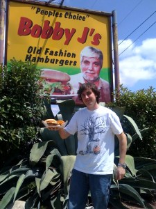 How could this man possibly deliver anything but a quality burger?