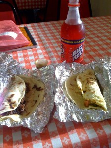 Startin' off the day right with some barbacoa and Big Red (the machacado is along for the ride)