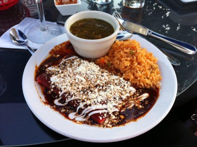 El Mirasol San Antonio patio Mexican Food Enchiladas antiguas