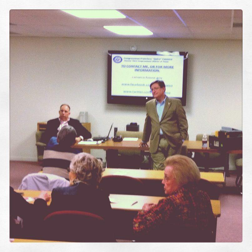 SOPA and Congressman Francisco Canseco (My Rep)