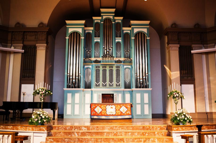 The Travis Park UMC Organ - photo by Tyler Schmitt