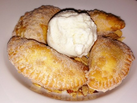 The apple empanadas were good, but I loved rolling the toasted almonds around in the ice cream.