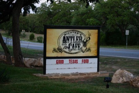 Antler Cafe Sign