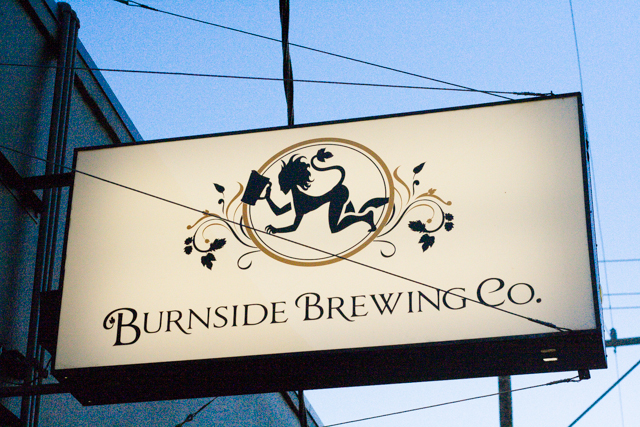 Portland Burnside Brewing Co Sign
