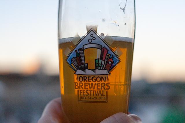 Portland Oregon Brewer's Festival Glass