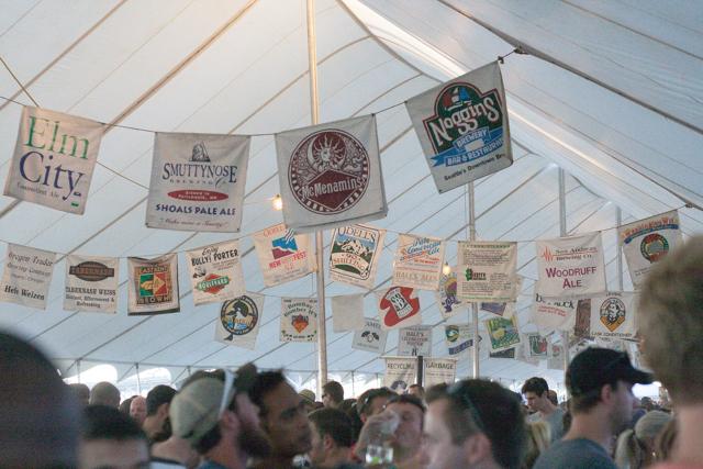 Portland Oregon Brewer's Festival Tent