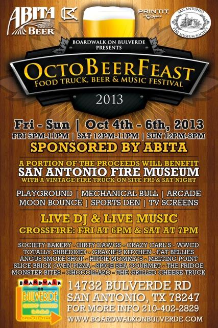 OctoBeer Feast at Boardwalk on Bulverde: Oct 4 – 6