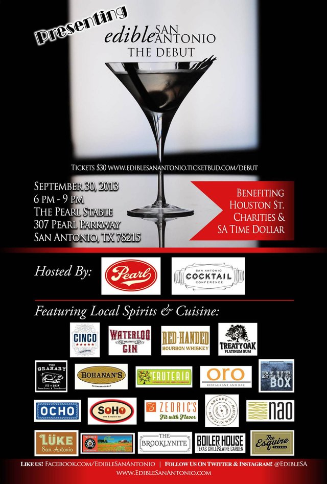 Edible San Antonio Magazine Debut: Sept 30