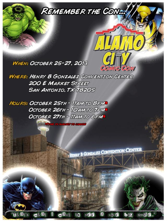 Alamo Comic Con 2013