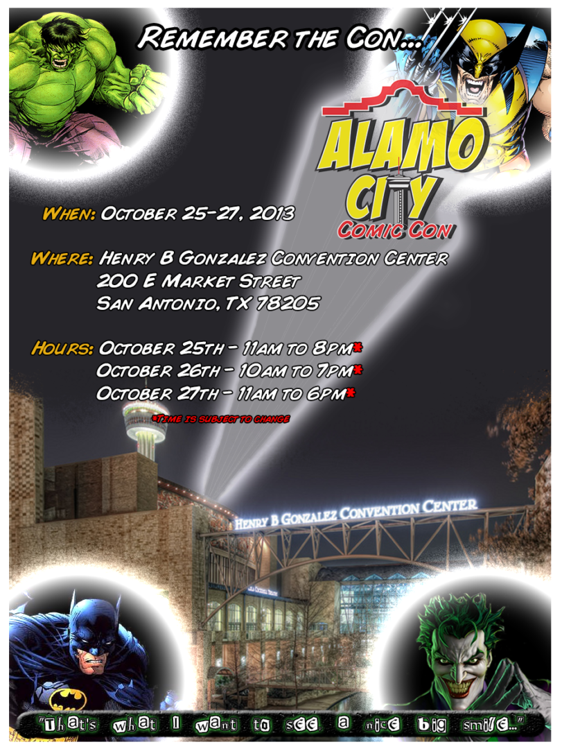 Alamo City Comic Con: Oct 25 – 27