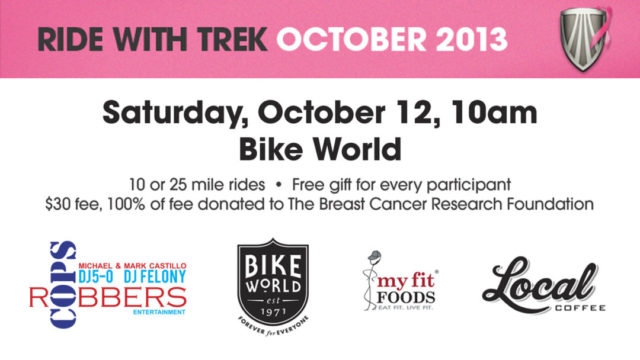 Breast Cancer Awareness Ride Oct 12