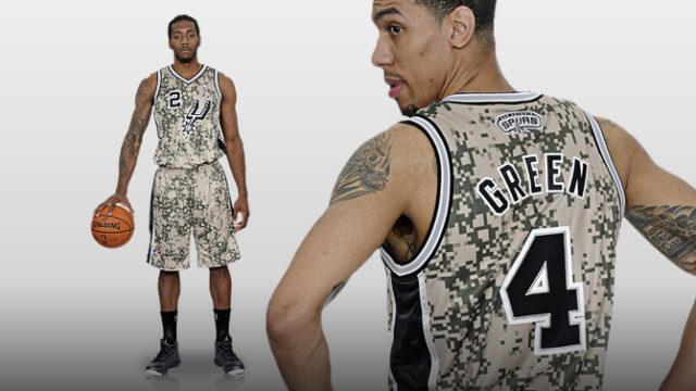 Spurs Military Jerseys