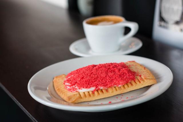 Local Coffee Bouble Espresso Macchiato Bakery Lorraine Pop Tart