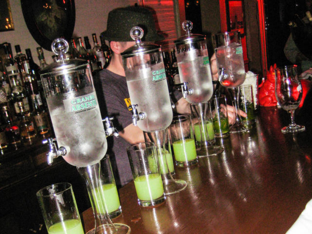 Pouring Absinthe at Minnie's Tavern