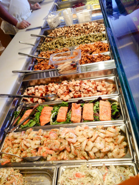 Salata Salad Bar Meat Seafood Healthy San Antonio Eats