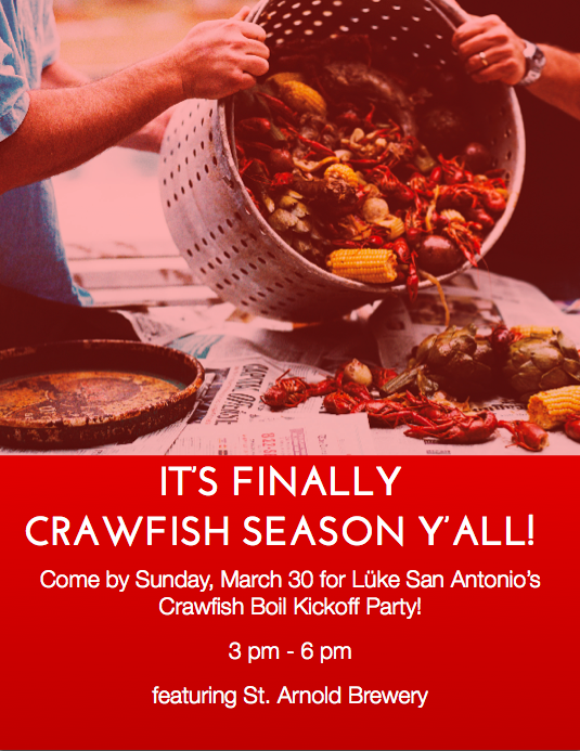 Lüke Crawfish Boil: March 30