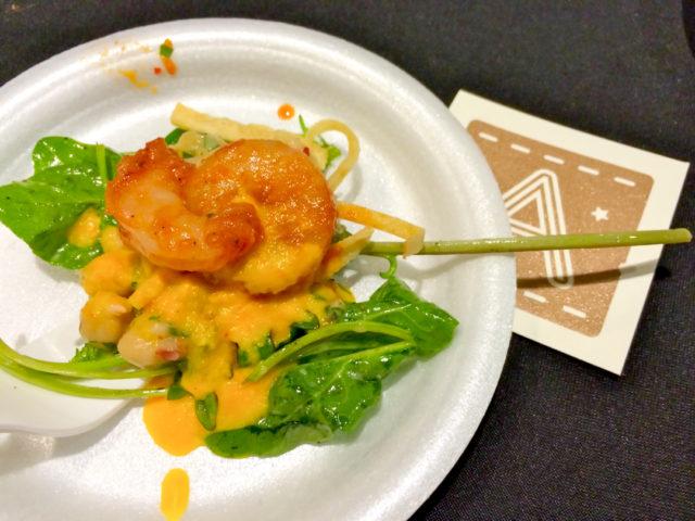 Culinaria 2014 Grand Tasting Arcade's spicy shrimp salad