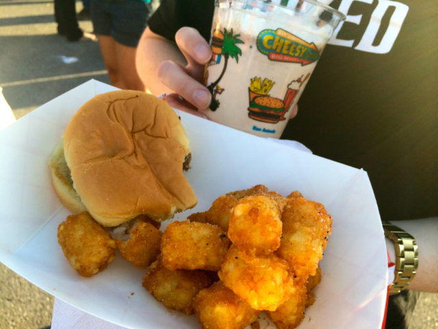 Culinaria 2014 Food Truck Event Cheeseburger, tater tots and a milkshake from Cheesy Jane's