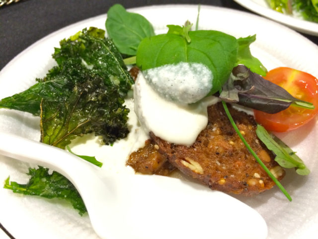 Culinaria 2014 Grand Tasting Luke's pork shoulder, bruschetta and fried kale
