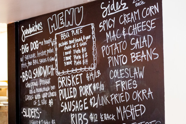 The Smoke Shack Blackboard Menu