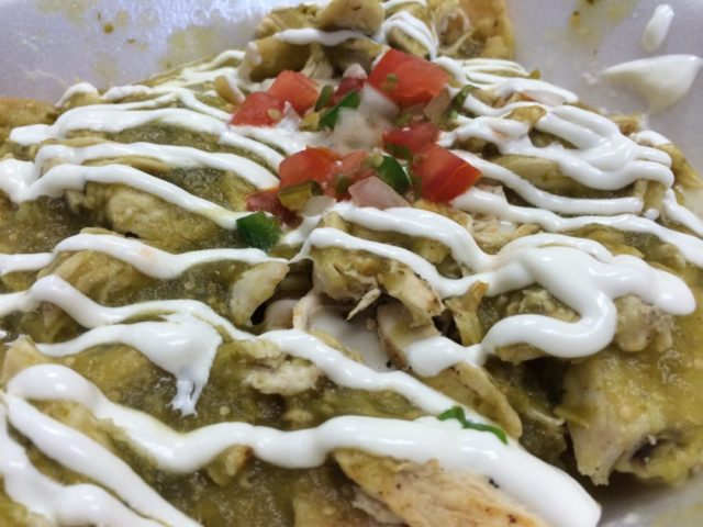 Vida Mia - Chilaquiles with chicken and salsa verde