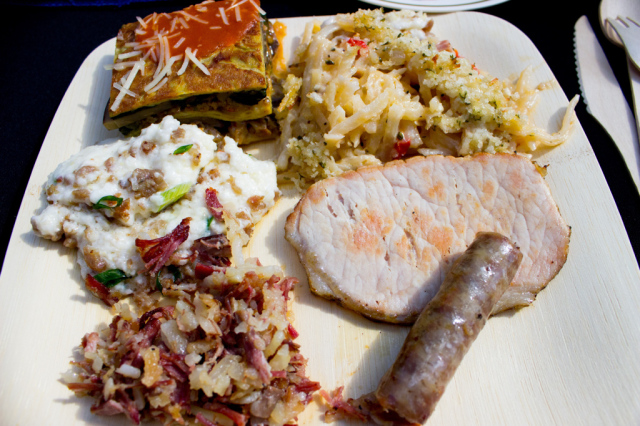 My Plate of Breakfast Foods at Culinaria Jazz Brunch 2014