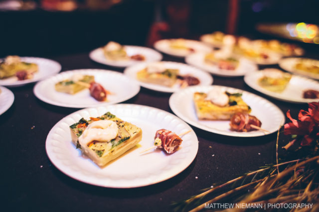 Bee's Knees Catering Tortilla Espanole and Prosciutto Wrapped Date