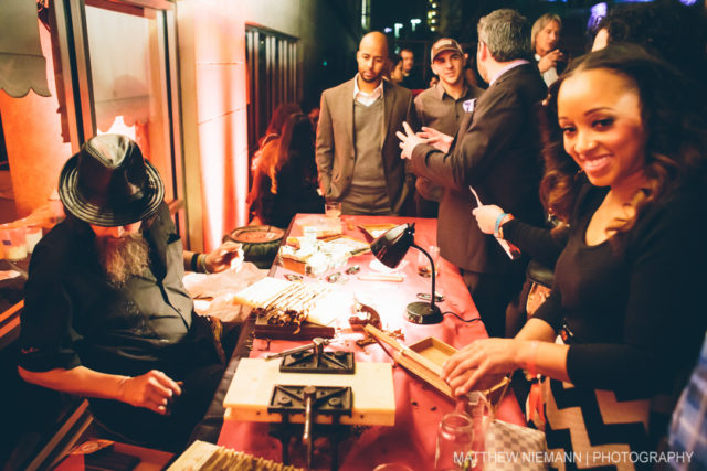 Hand Rolled Cigars at 2015 SA Cocktail Conference Opening Party