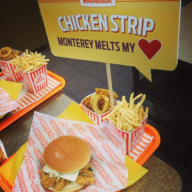 Whataburger Chicken Strip Monterey Melt