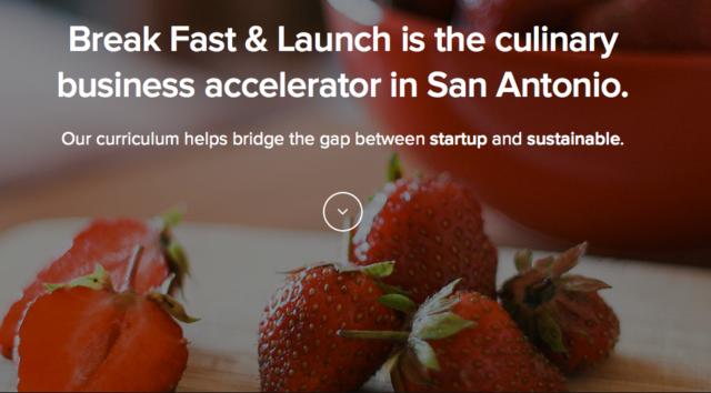 Screenshot of the Break Fast & Launch website.
