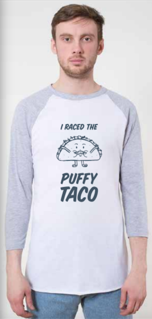 SA Flavor puffy taco design on american apparel stock image