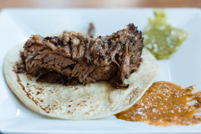 Tacos and Tequila Brunch Brisket Taco