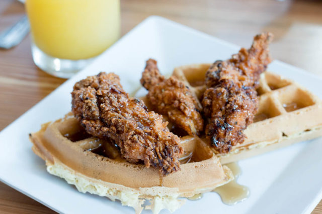 Tacos and Tequila Brunch Chicken Waffle