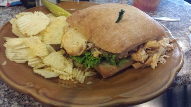Chicken Chipotle Parmesan sandwich at WD Deli.