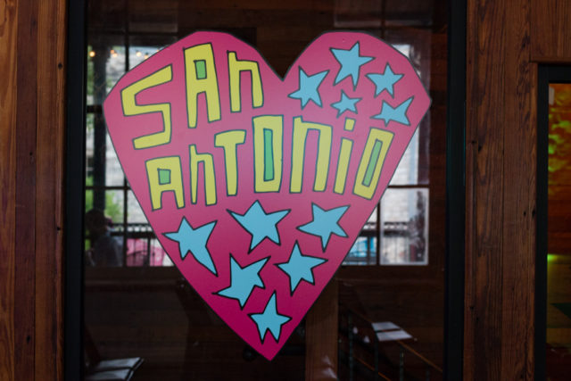Beautiful San Antonio art by Cruz Ortiz. Photo by Matthew Niemann.