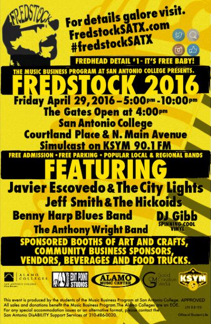 FredStock Music Festival 2016 Flyer