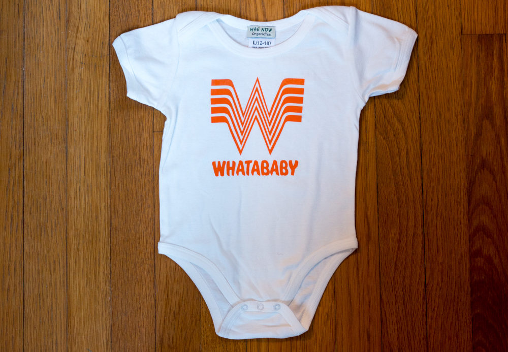 Introducing the Whatababy Whataburger Onesie