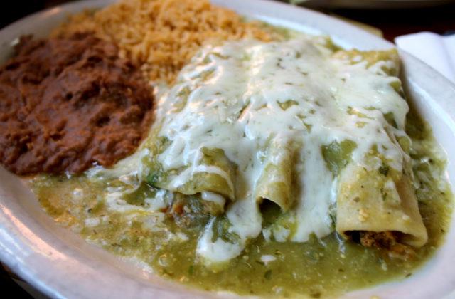 Taqueria Nuevo Vallarta Enchiladas Verdes