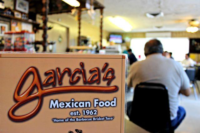 Menu and Inside Garcia's Mexican Restaurant