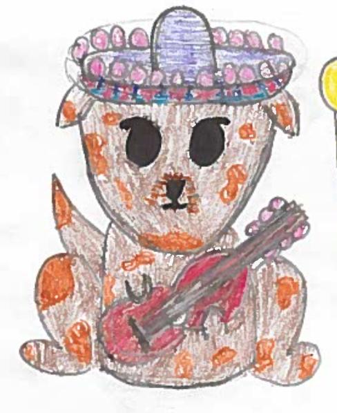 Mariachi Fiesta Dog 2017 Drawing