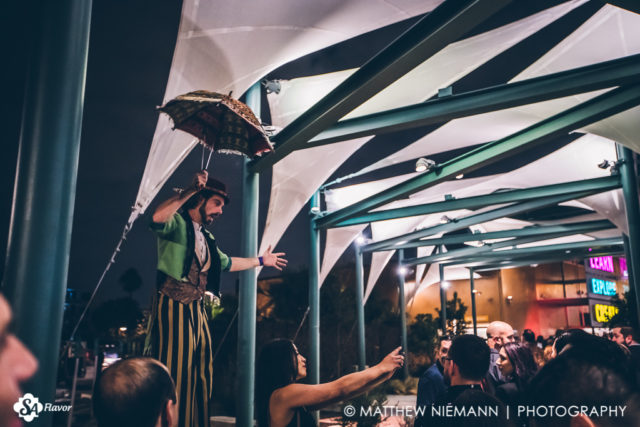 Man on Stilts San Antonio Cocktail Conference Opening Party 2017