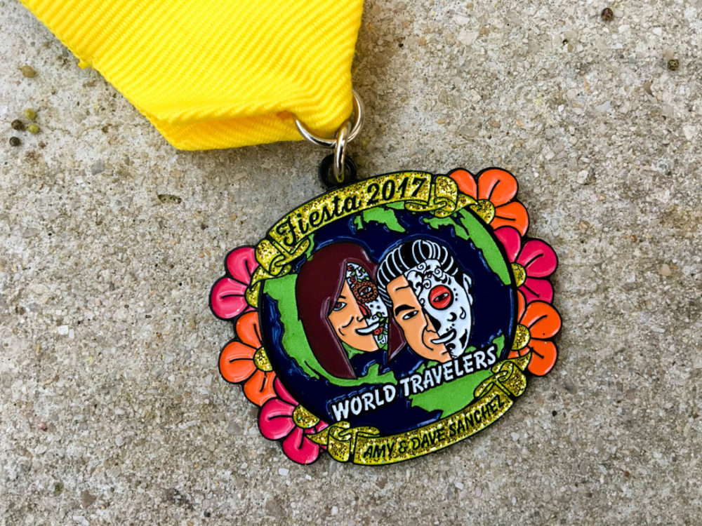 Amy and Dave Sanchez Fiesta Medal 2017