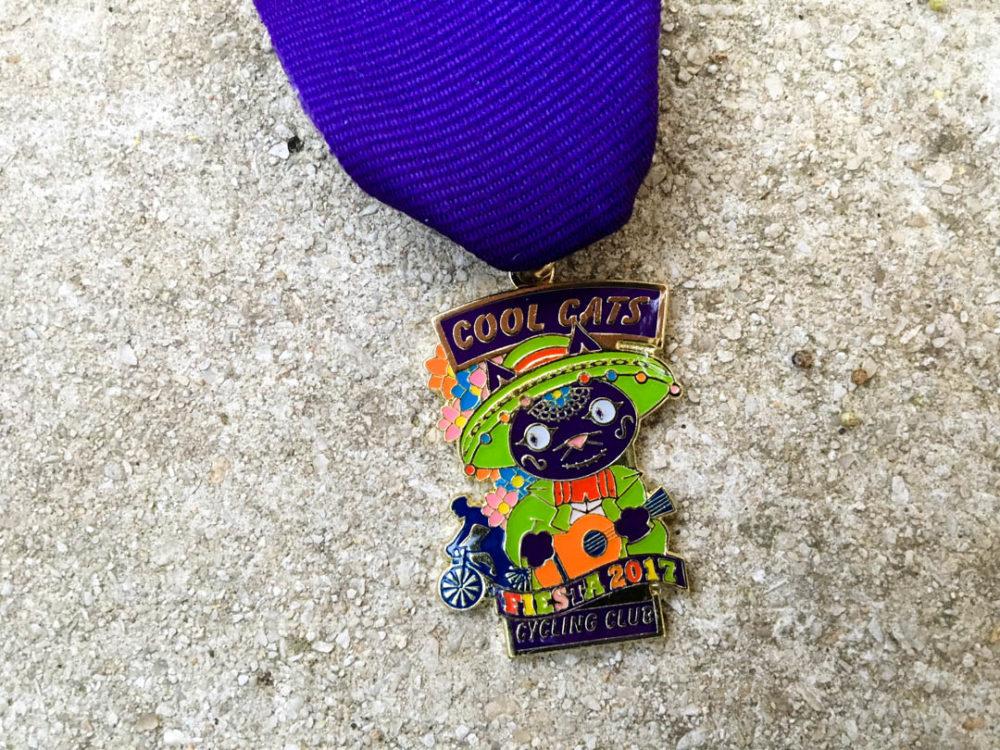 Cool Cats Cycling Club Fiesta Medal 2017