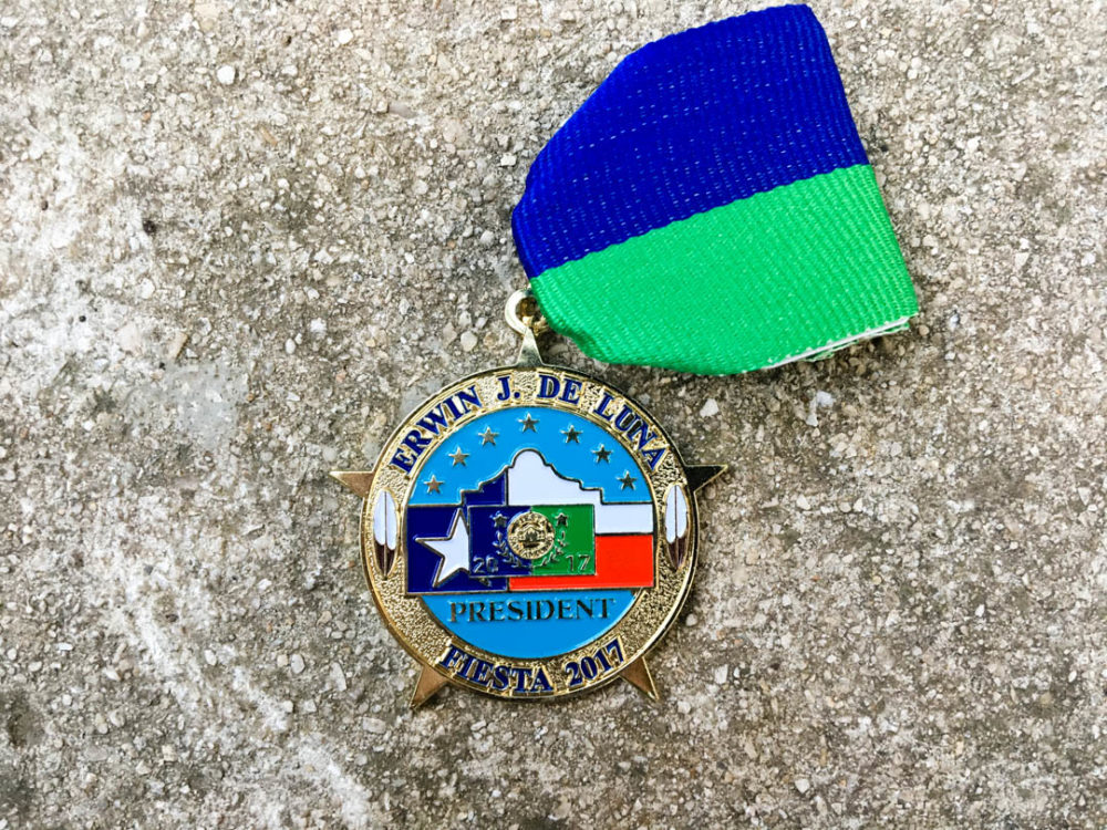 Erwin J De Luna Fiesta Commissioner President Medal 2017