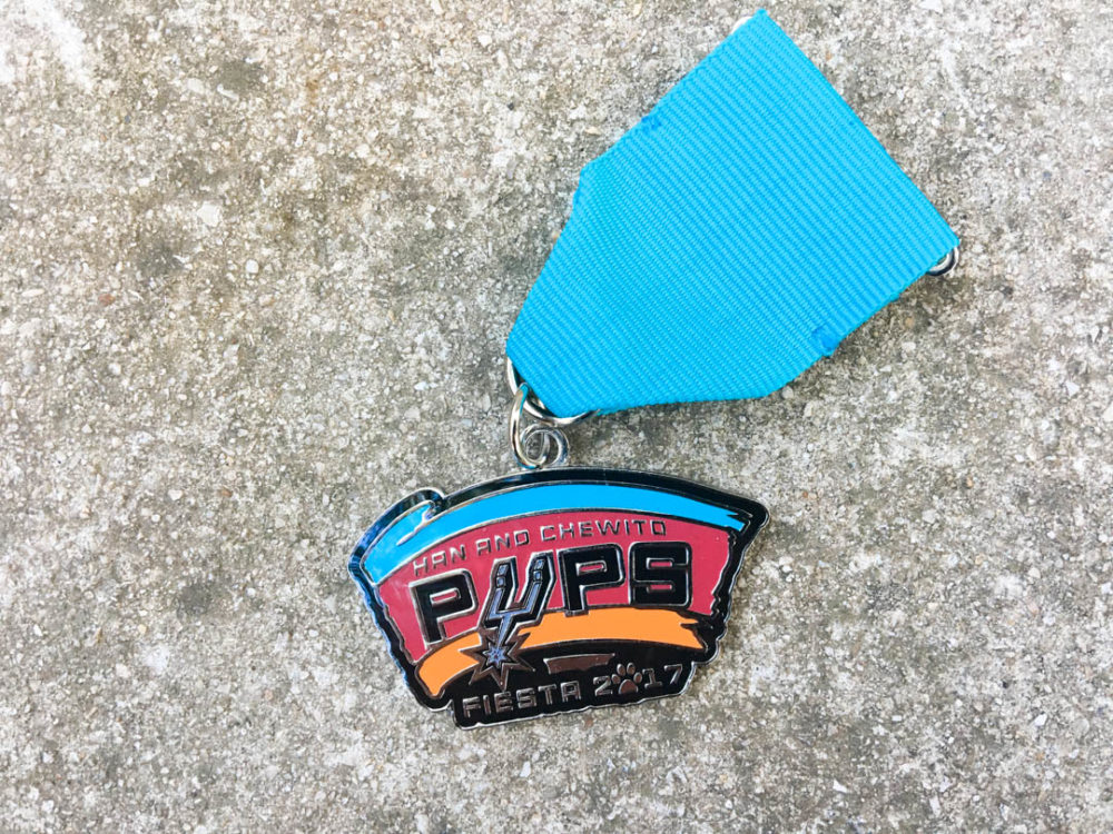 Han and Chewito Pups Fiesta Medal 2017