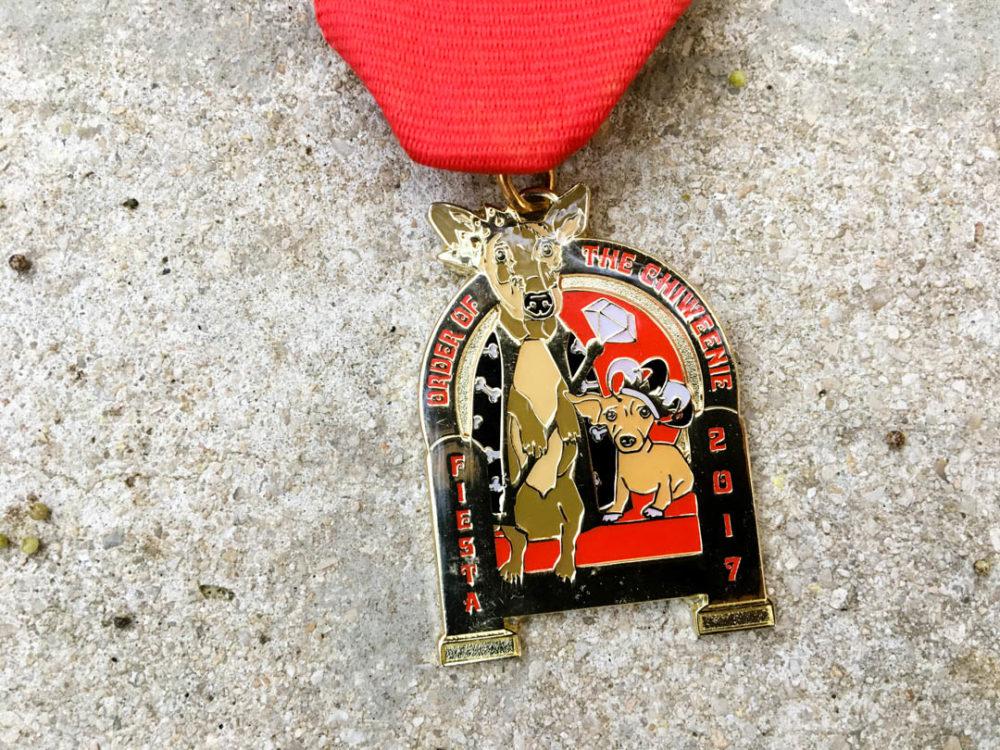 Loyda Jimenez Order of the Chiweenie Fiesta Medal 2017