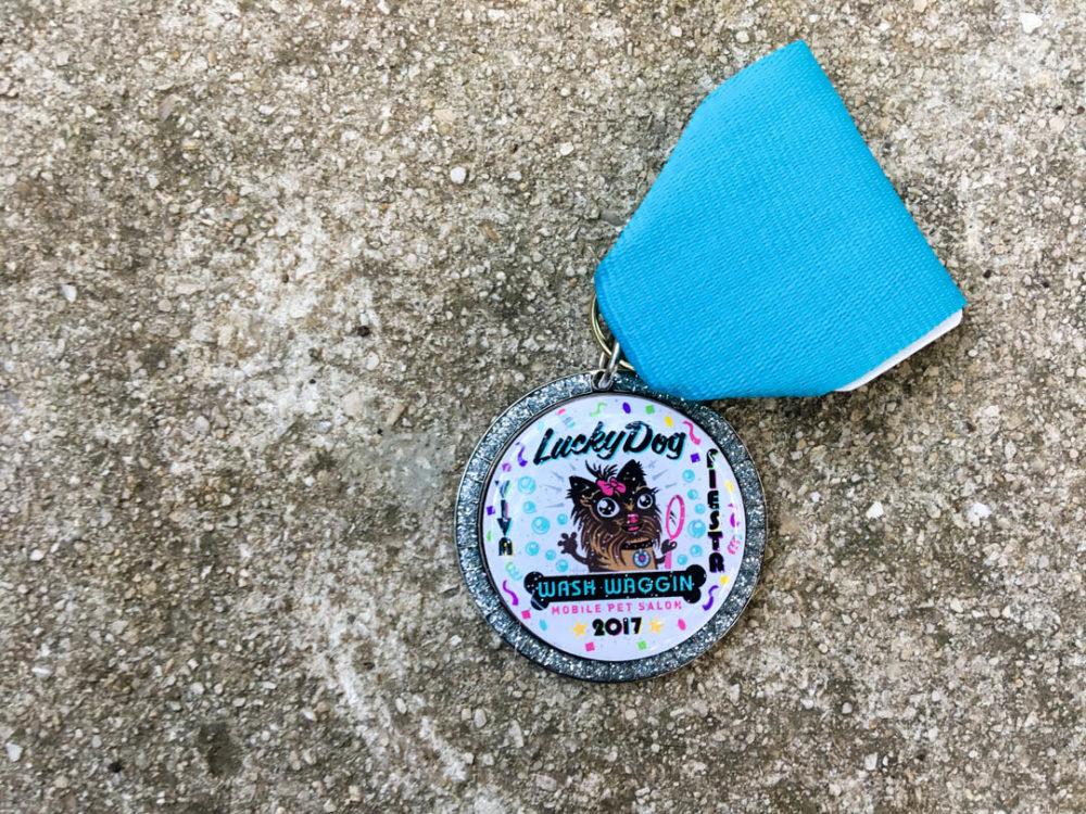 Lucky Dog Wash Waggin Fiesta Medal 2017