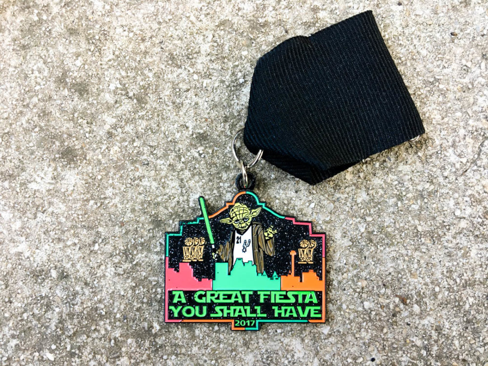 Morales Family Glow in the Dark Spurs Yoda Fiesta Medal 2017