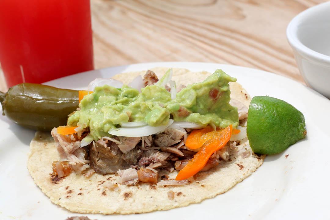 Taco with Guacamole at Carnitas Lonja-7